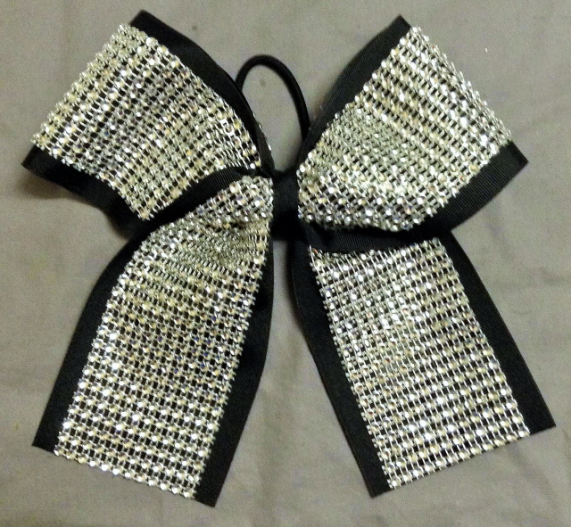 "2 1/4"" Silver Diamond Bow - choose your color"