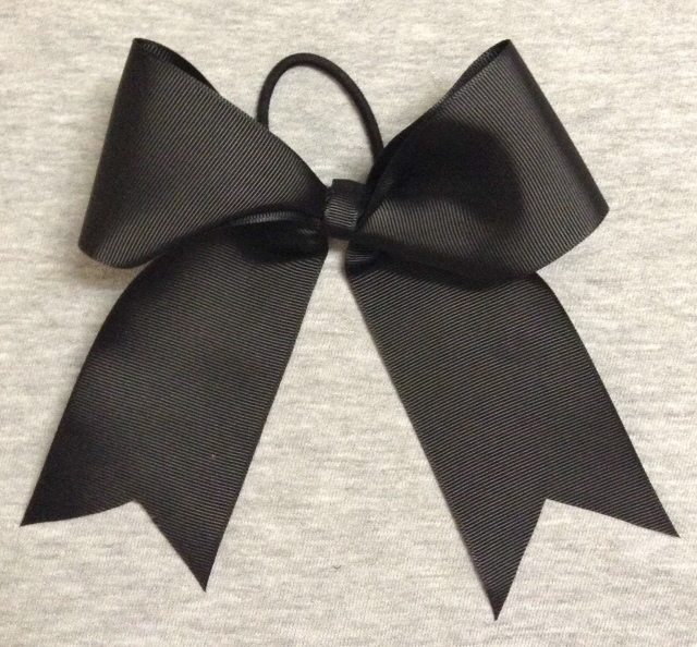 Black Solid Bow