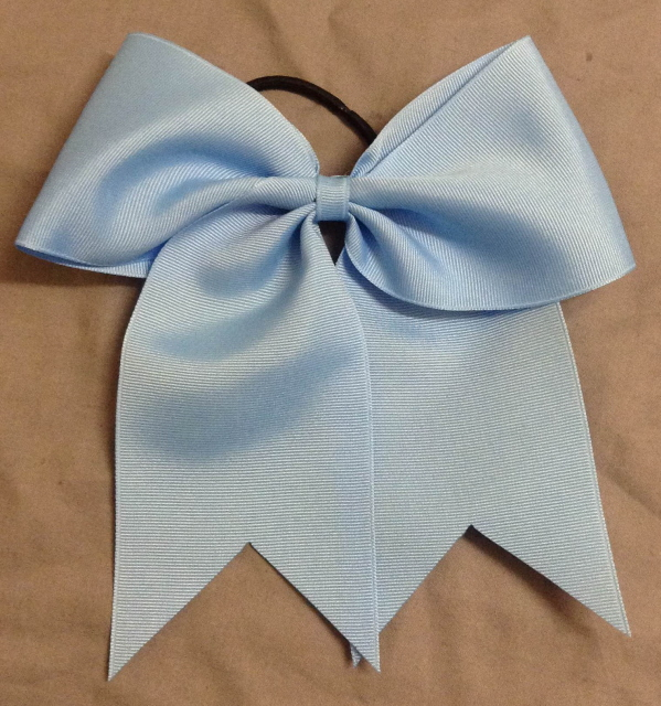 Columbia Blue Solid Bow
