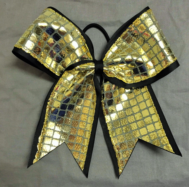 Black and Gold Disco Bow