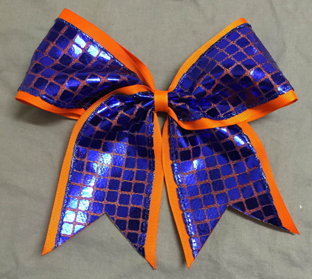 Orange and Royal Blue Disco Bow
