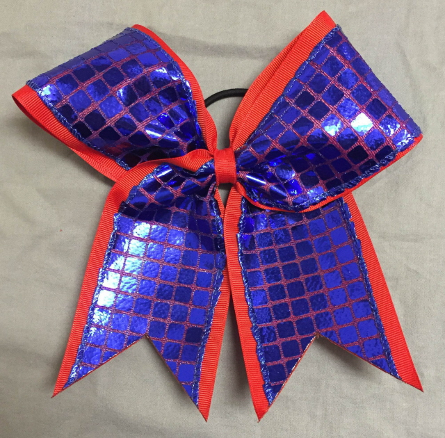 Red and Royal Blue Disco Bow