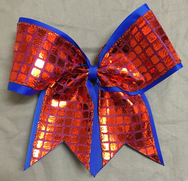 Royal Blue and Red Disco Bow