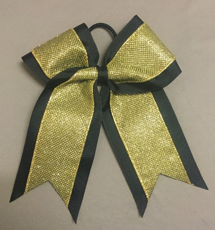 Black with Gold Glitter Layer