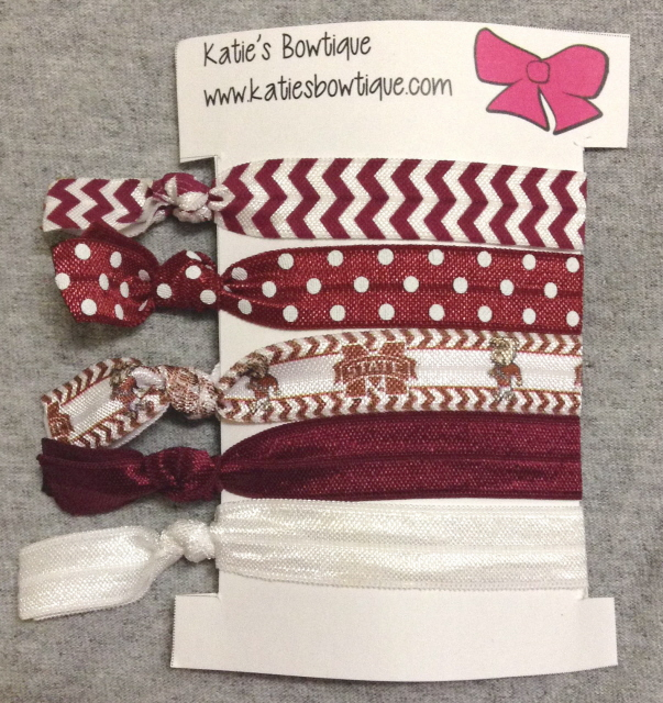 Mississippi State Bulldogs FOE Elastic hairbands - set of 5