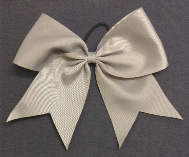 Silver Gray Solid Cheer / Softball / Volleyball Bow