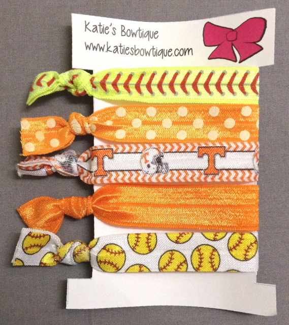 Tennessee Softball FOE Elastic Hairband set - set of 5