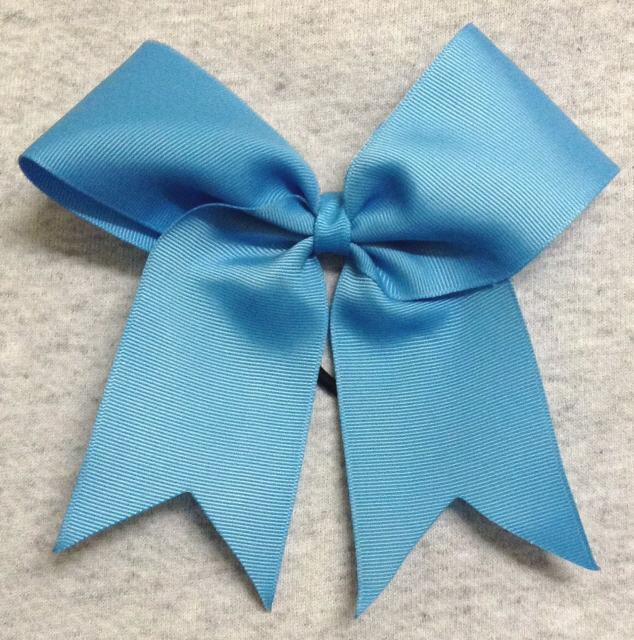 Turquoise Blue Solid Bow