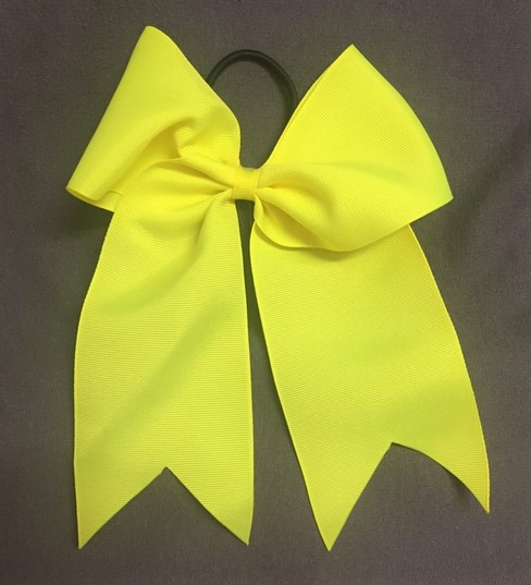 Yellow Solid Bow