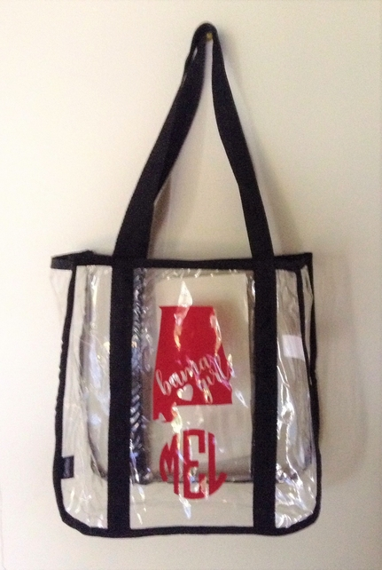 "Clear ""Bama Girl"" Personalized Gameday Bag"